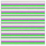 [ Thumbnail: Lime, Orchid, and White Pattern of Stripes Fabric ]