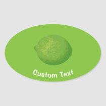 Lime Oval Sticker