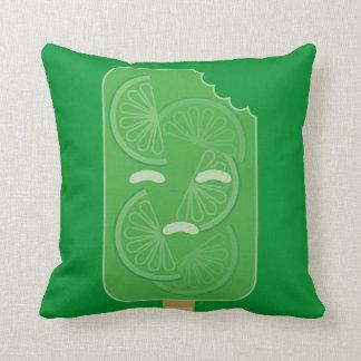 Lime Paleta (No seas tan amargo) Throw Pillows