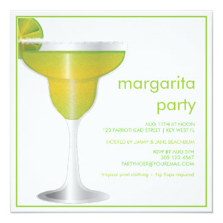 Lime Paradise Margarita Party Invitation