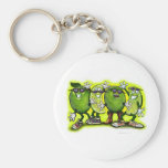 Lime Party Basic Round Button Keychain