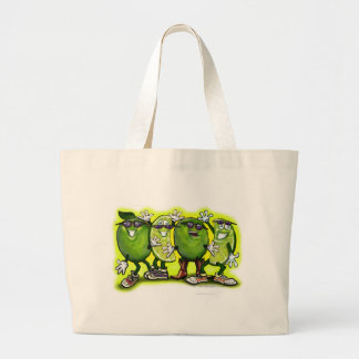 Lime Party Large Tote Bag
