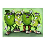 Lime Party Postcard