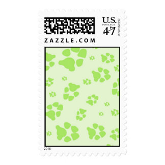 lime paw print stamps