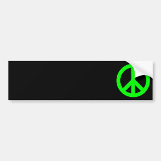 Lime Peace Symbol Car Bumper Sticker
