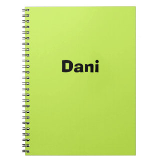 Lime Personalized Notebook