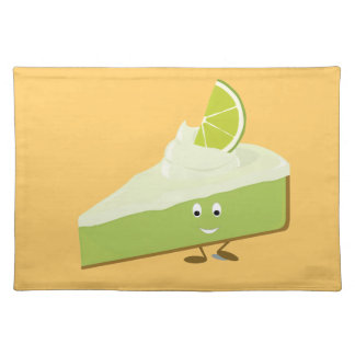 Lime pie slice character placemats