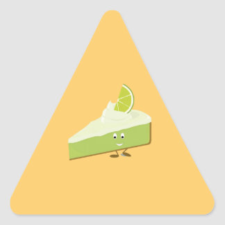 Lime pie slice character triangle sticker