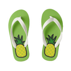 Lime Pineapple Flip Flops at Zazzle