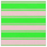 [ Thumbnail: Lime & Pink Colored Pattern Fabric ]