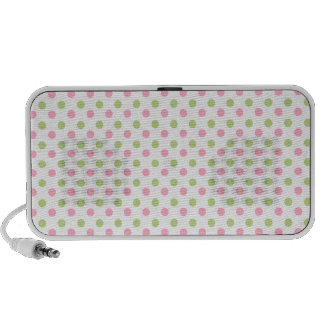 Lime Pink Dots Laptop Speakers