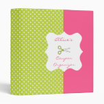 Lime&Pink Polka Dot Personalized Coupon Organizer Binders