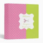 Lime&Pink Polka Dot Personalized Coupon Organizer Binder