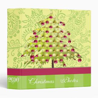 Lime & Plum Christmas Photos Binder With Stripes