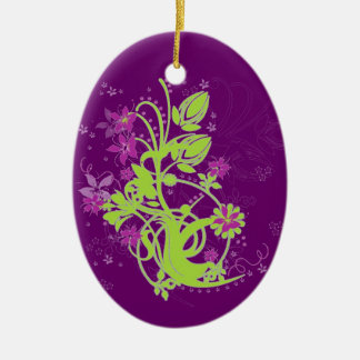 Lime & Plum Flora Whimsy Christmas Ornaments