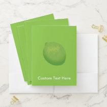 Lime Pocket Folder