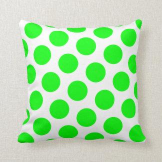 Lime Polka Dot Throw Pillow