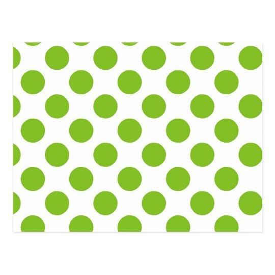 Lime Polka Dots Postcard