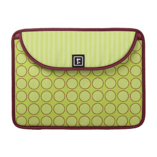Lime Polka Dots Sleeve for MacBooks
