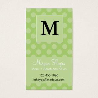 Lime Polka Mommy Card