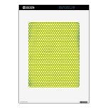 Lime Polkadot Decals For The iPad
