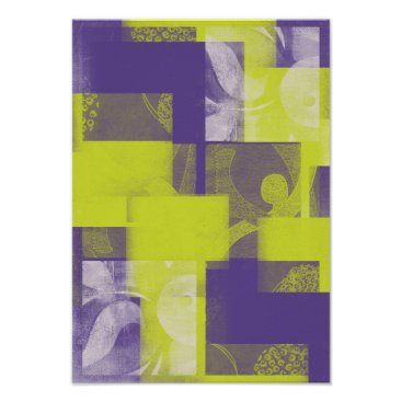 Art Themed Lime punch and almost mauve abstract wall art