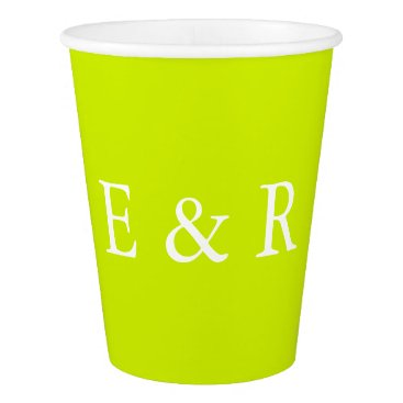 Beach Themed Lime Punch - Spring 2018 London Fashion Trends Paper Cup