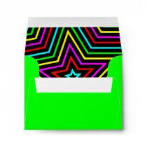Lime Rainbow Stars Envelope
