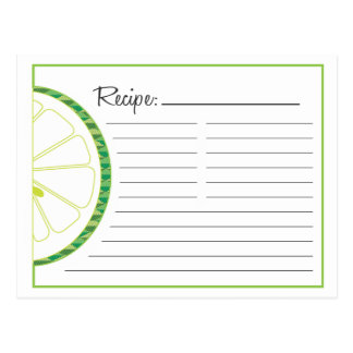 Lime Recipe Card