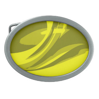 Lime Retro Funky Paint Abstract Art Belt Buckle