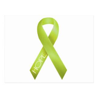 Lime Ribbon Postcard