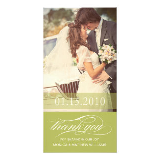 LIME SCRIPT THANKS | WEDDING THANK YOU CARD