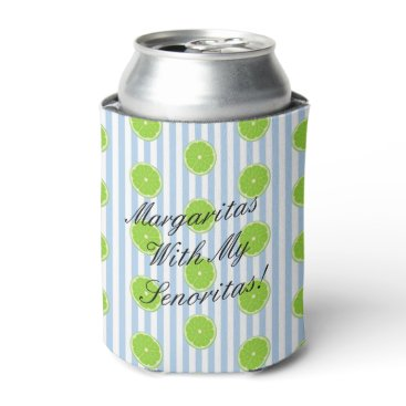 McTiffany Tiffany Aqua Lime Seersucker Fiesta Party Bridesmaid Can Cooler