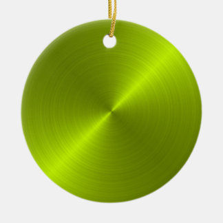 Lime Sheen Christmas Personalized Ornament