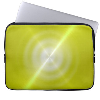 Lime Shiny Stainless Steel Metal Computer Sleeve