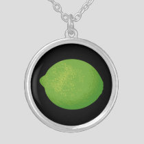 Lime Silver Plated Necklace