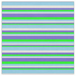 [ Thumbnail: Lime, Slate Blue, Beige, and Sky Blue Colored Fabric ]