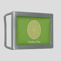 Lime Slice Belt Buckle