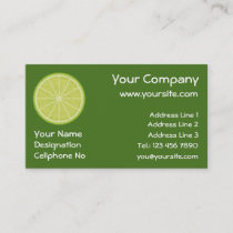 Lime Slice Business Card