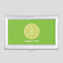 Lime Slice Business Card Case