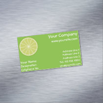 Lime Slice Business Card Magnet