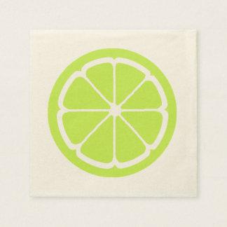 LIME SLICE by SHARON SHARPE Paper Napkin