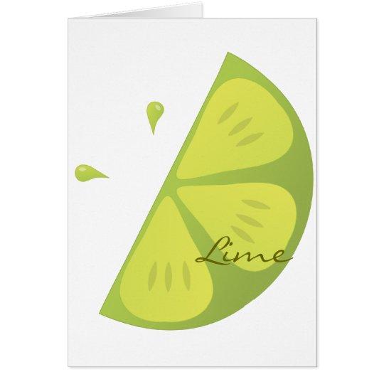 Lime Slice Card