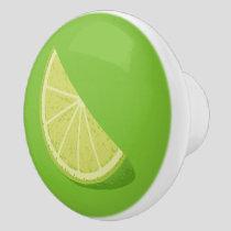 Lime Slice Ceramic Knob