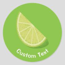 Lime Slice Classic Round Sticker