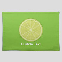 Lime Slice Cloth Placemat