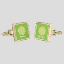 Lime Slice Cufflinks
