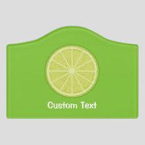 Lime Slice Door Sign