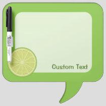 Lime Slice Dry Erase Board
