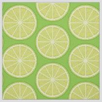 Lime Slice Fabric